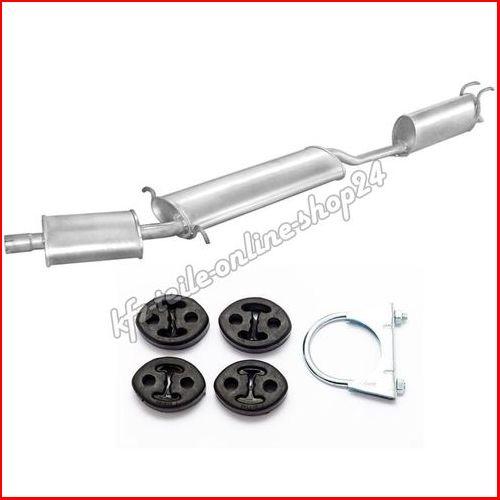 Komplette Auspuffanlage Auspuff Abgasanlage mitte hinten Fiat Multipla VAN 1.6