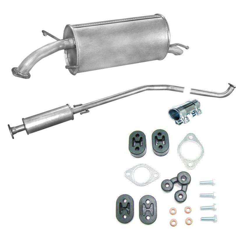 Chevrolet Daewoo Aveo Kalos 1.2 1.4 Mittelschalldämpfer Auspuffanlage Set
