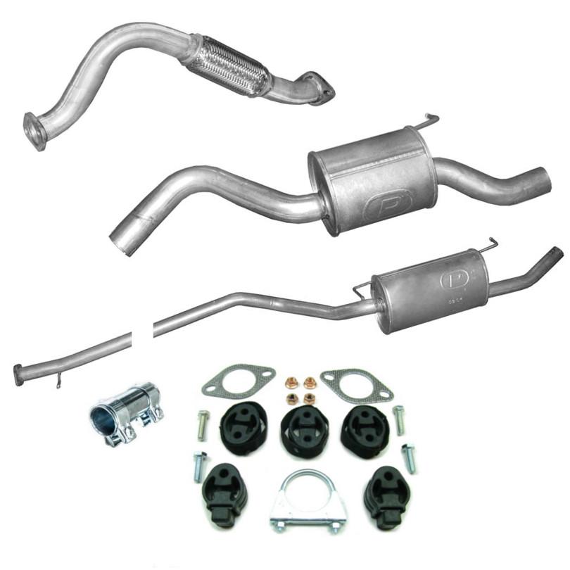 Montagesatz Endschalldämpfer Aspuff Ford Focus Kombi 1.8i 115 Ps 85 kW NEU