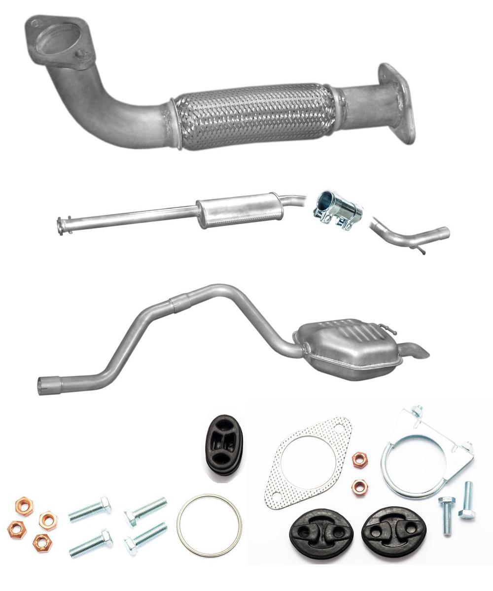 Montagesatz 16V Kombi 130PS 96kW NEU Auspuff Komplett Ford Focus 2.0i